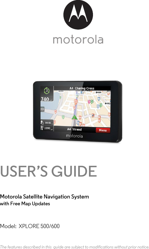 binatone electronics xplore gps user manual xplore500 600 ifu uk en rh usermanual wiki Garmin GPS Systems Manuals Garmin GPS Guide