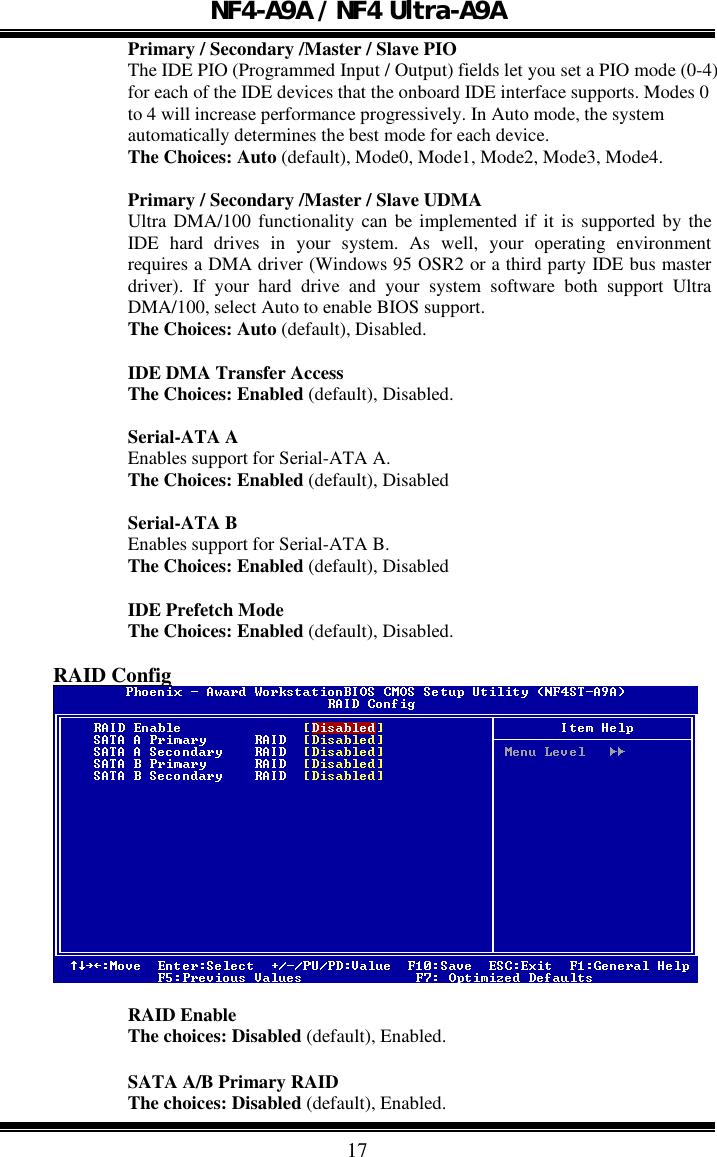 Biostar Nf4 Ultra A9A Owners Manual