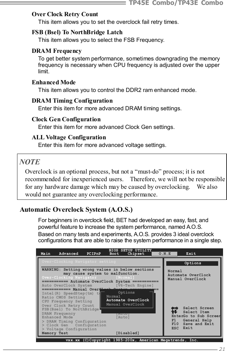 Biostar Tp43E Combo Owners Manual IP45C A7T_IP43C A7T_090922