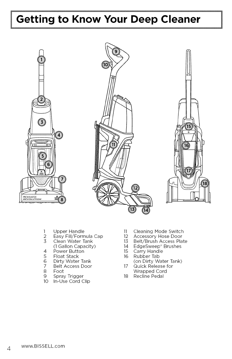 Bissell 1548 1511339l User Manual Carpet Cleaner Manuals And Guides Sweeper Diagram Parts List For Carpetfloor Partsbissell Open The Pdf Directly View Page Count 20 35412