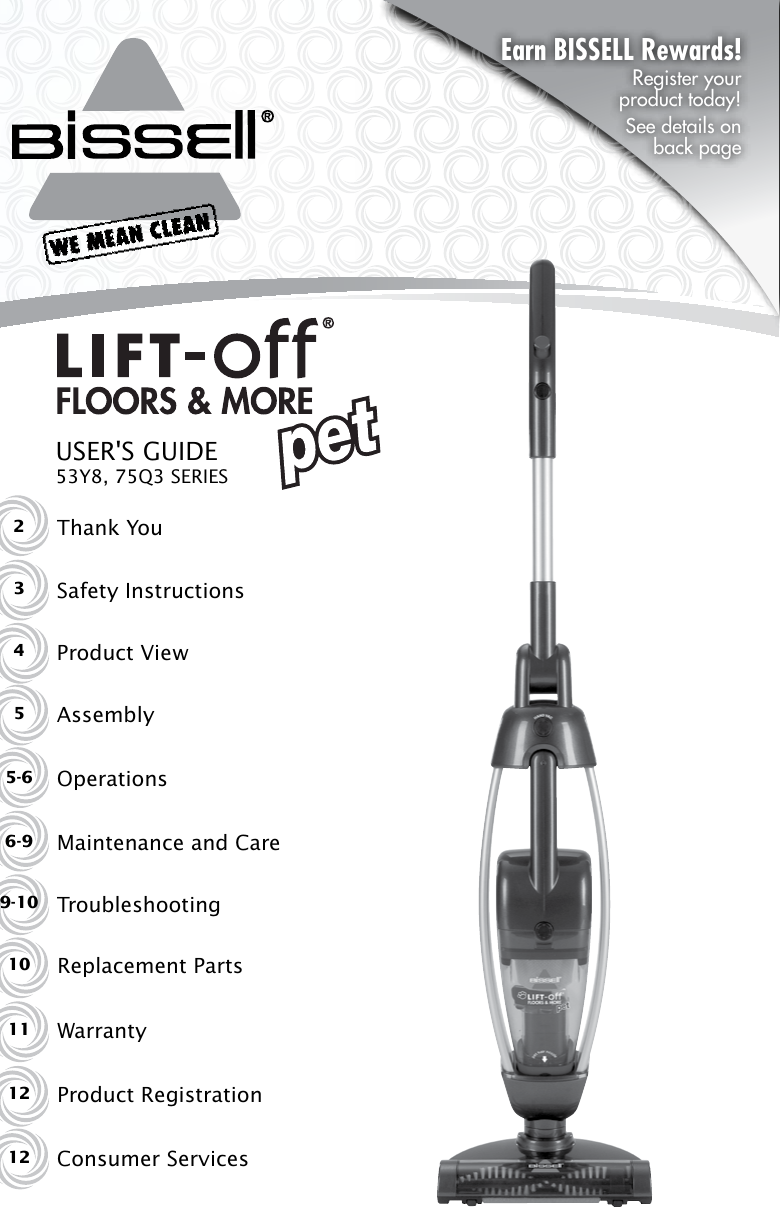 Bissell 75Q3 User Manual To The E55505f3 7ade 445b 99da 22b1402ad20a