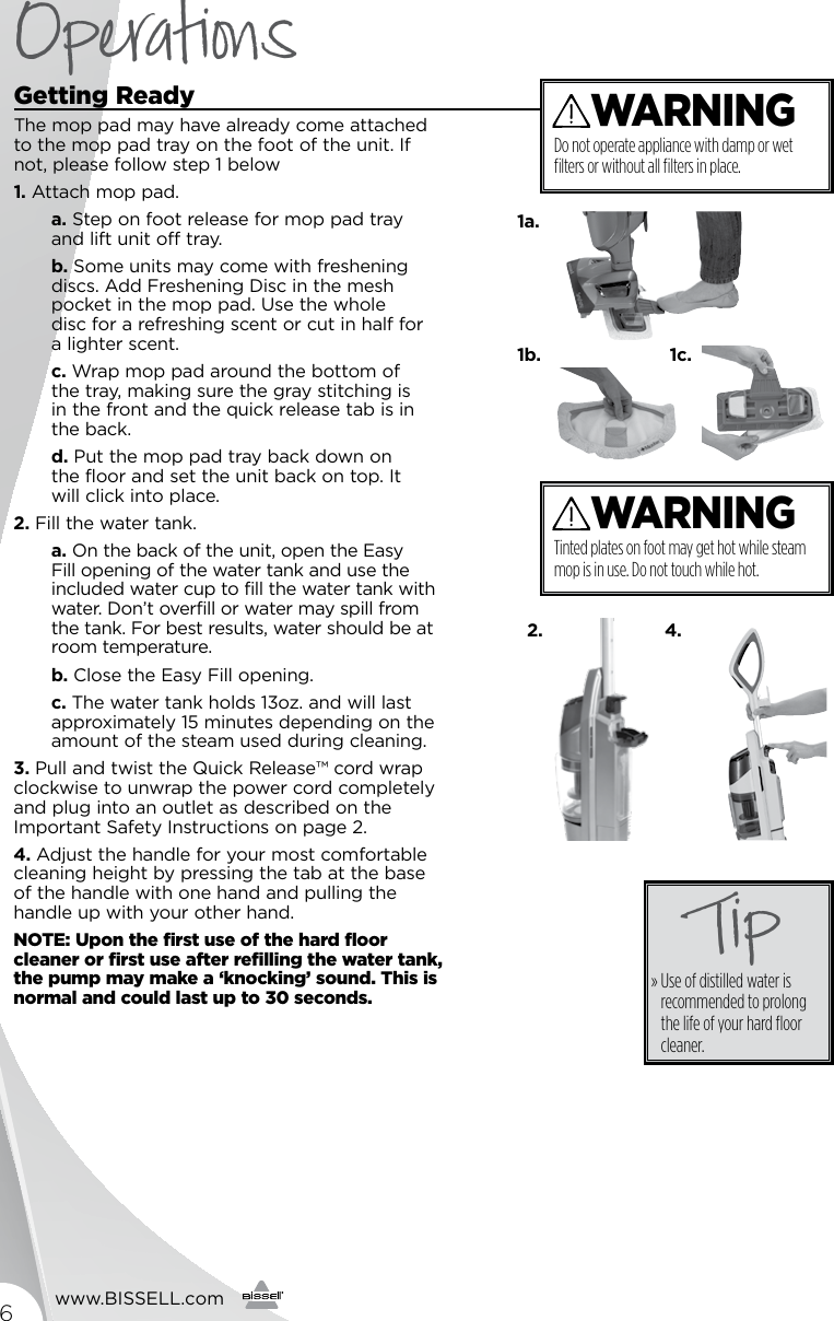 Bissell Symphony All In One Vacuum And Steam Mop 1132 Owners Manual Cleaner Diagram Parts List For Wetcarpetcleanerparts Page 6 Of 12