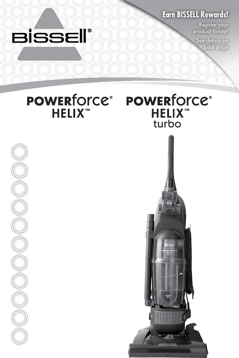 bissell powerforce helix turbo bagless vacuum 68c7 owners manual rh usermanual wiki Bissell PowerForce Box Old Vacuum Cleaners