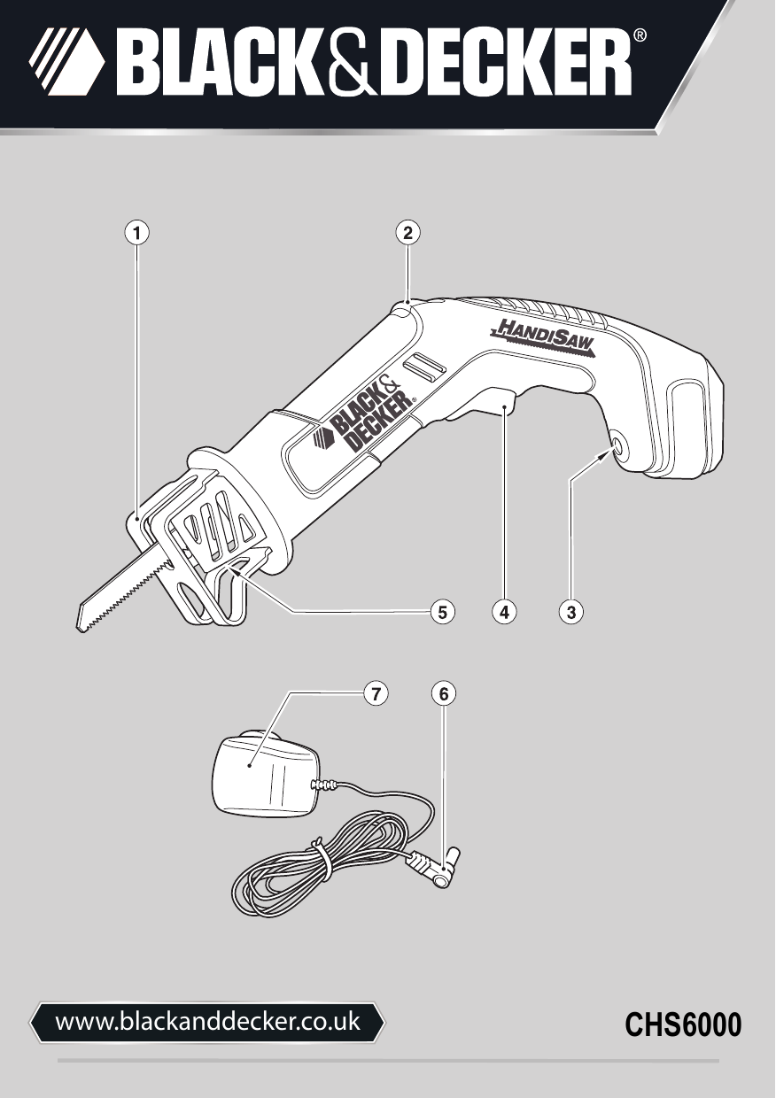 Black And Decker Chs600 Instruction Manual Chs6000 Powered Hand Saw Uk