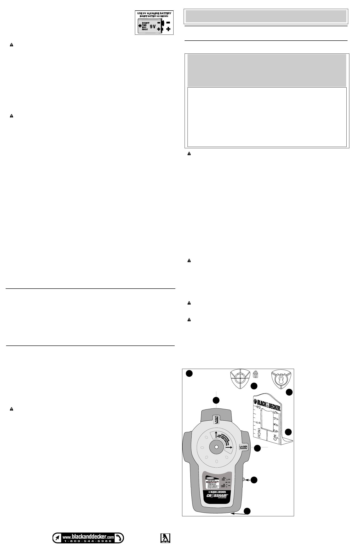 Black And Decker Crosshair Bdl400s Instruction Manual 585435 00 Laser