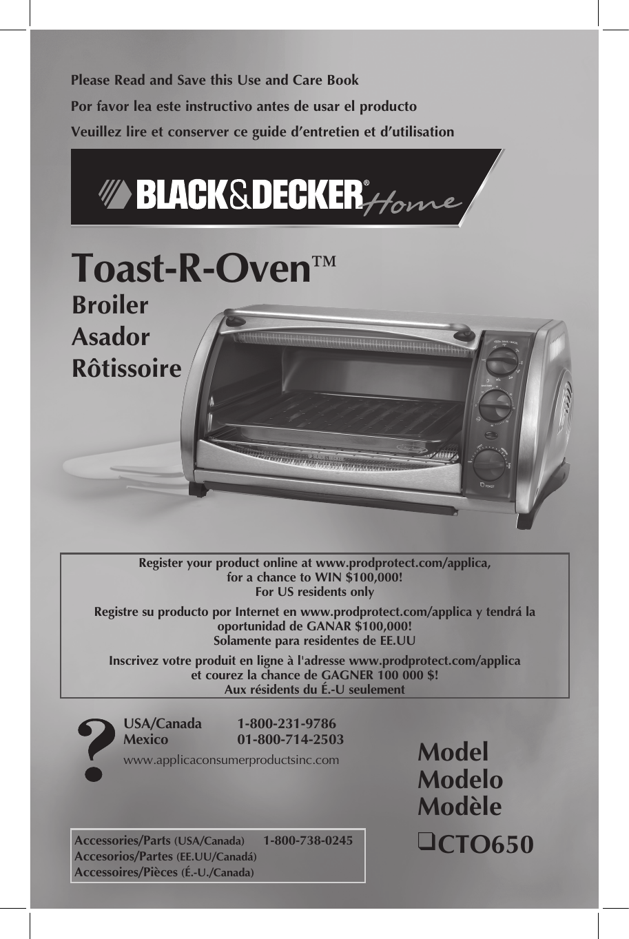 Black And Decker Toast R Oven Parts