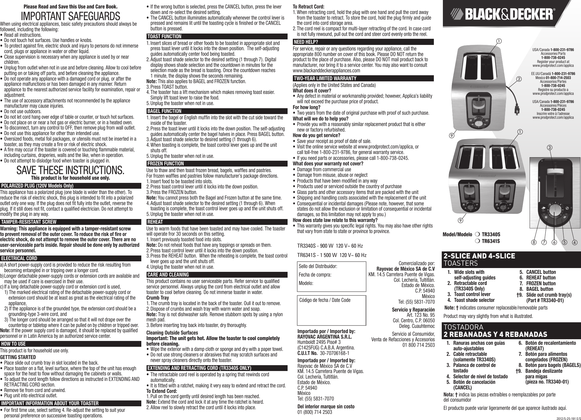 Black And Decker 2 Slice Toaster Manual
