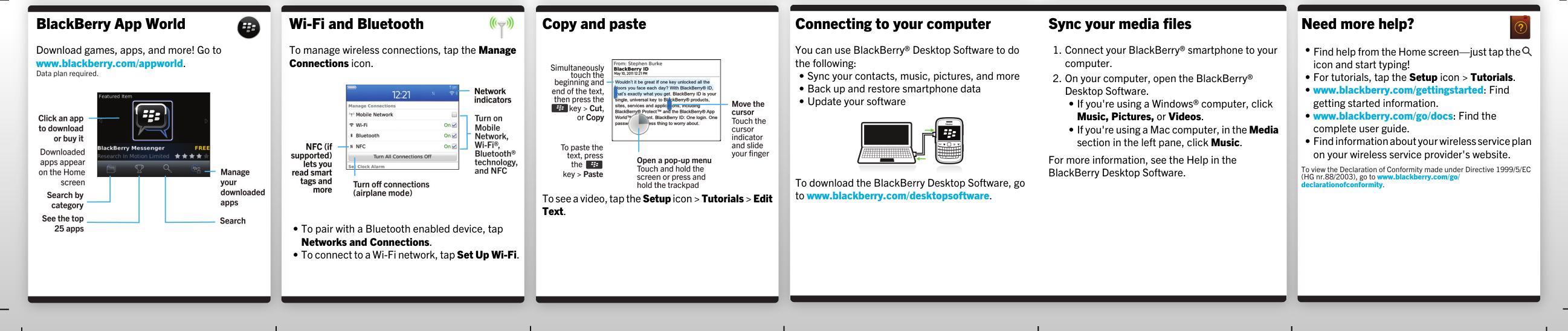 Blackberry Bold 9900 V7 0 Start Here Guide
