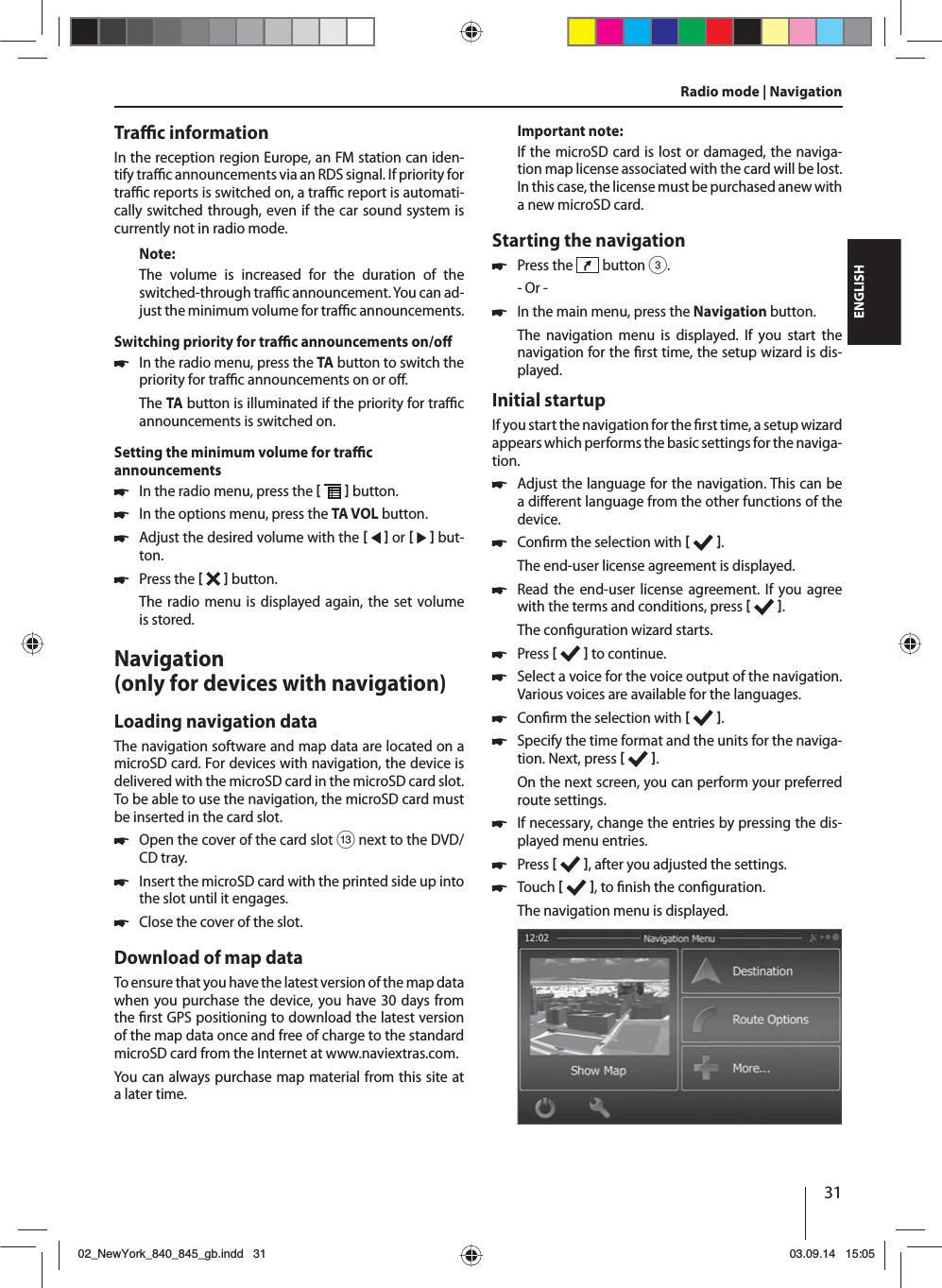 Blaupunkt Europe NY845 CAR DVD/NAVIGATION Player User Manual