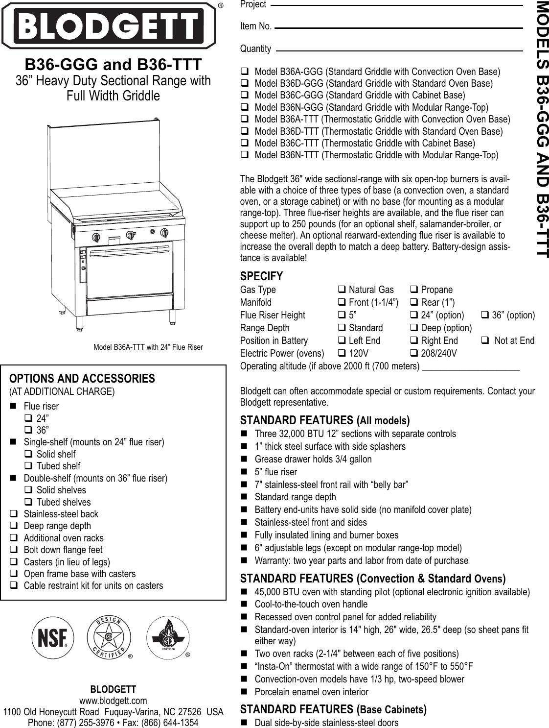Blodgett B36 GGG TTT.qxp User Manual To The Fd9f19c2 7494 69b4 9900  3aa0296ebd7a