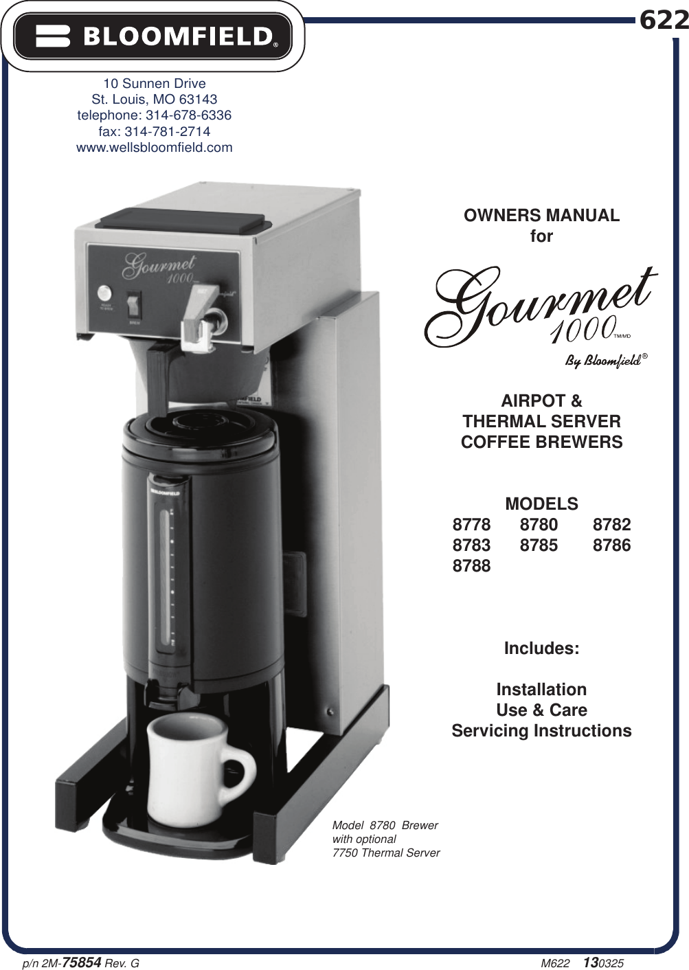 bloomfield 8785 al coffee brewers user manual to the 57ab6bf4 cb79 rh  usermanual wiki