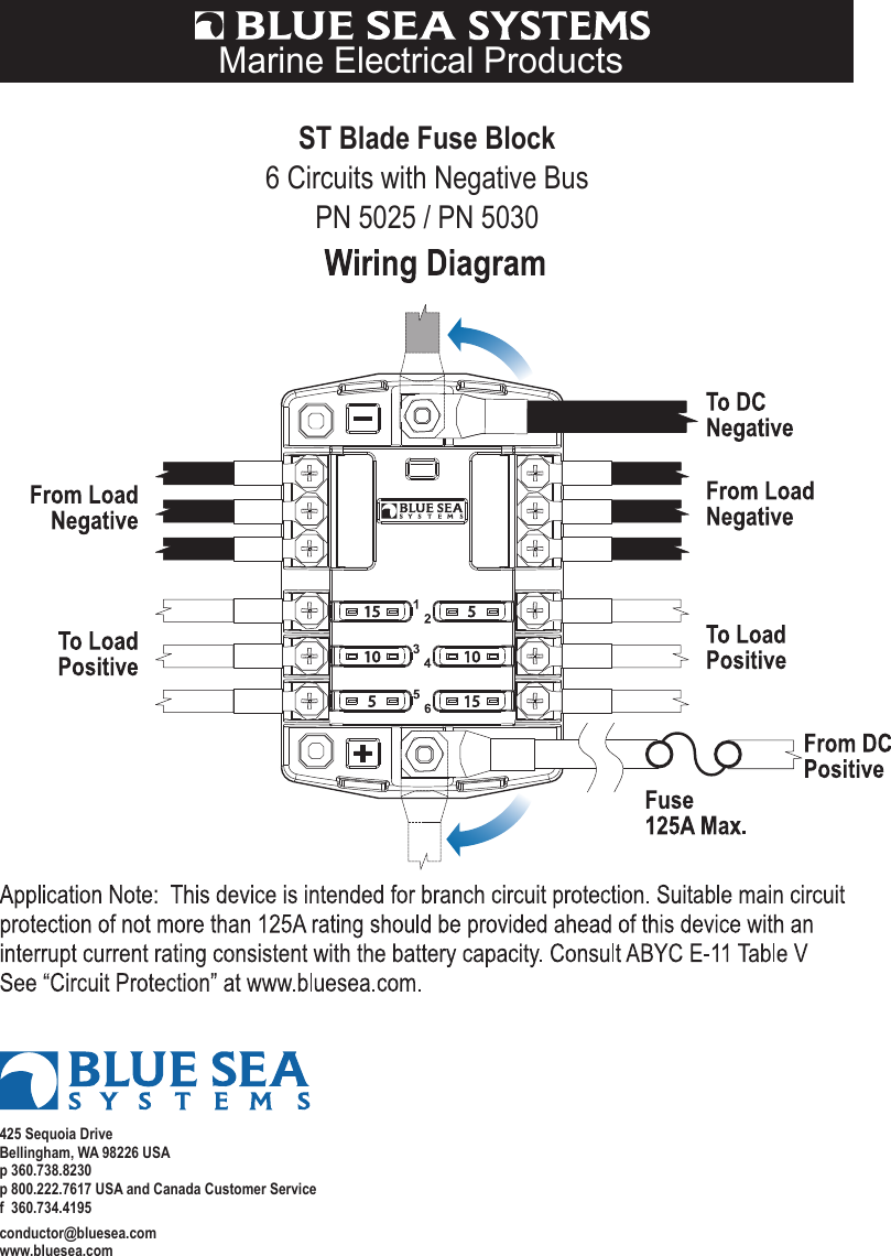 Blue Sea Electrical Wiring Diagrams Library Harness Color Standards Sonic Electronix Caroldoey Systems Printer Accessories Pn 5025 Users Manual Diagram 5030