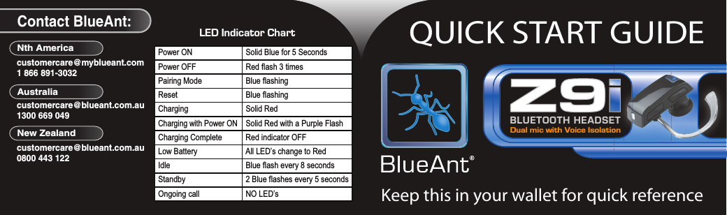 blueant z9i bluetooth headset quick start guide us quickstart rh usermanual wiki Online User Guide Clip Art User Guide