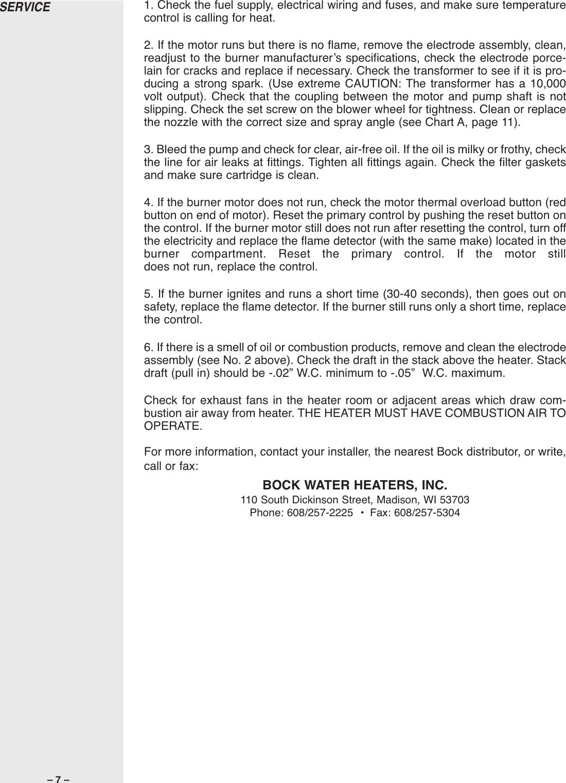 Bock Water Heaters 20Pp Users Manual 23420 Res Oil Bro