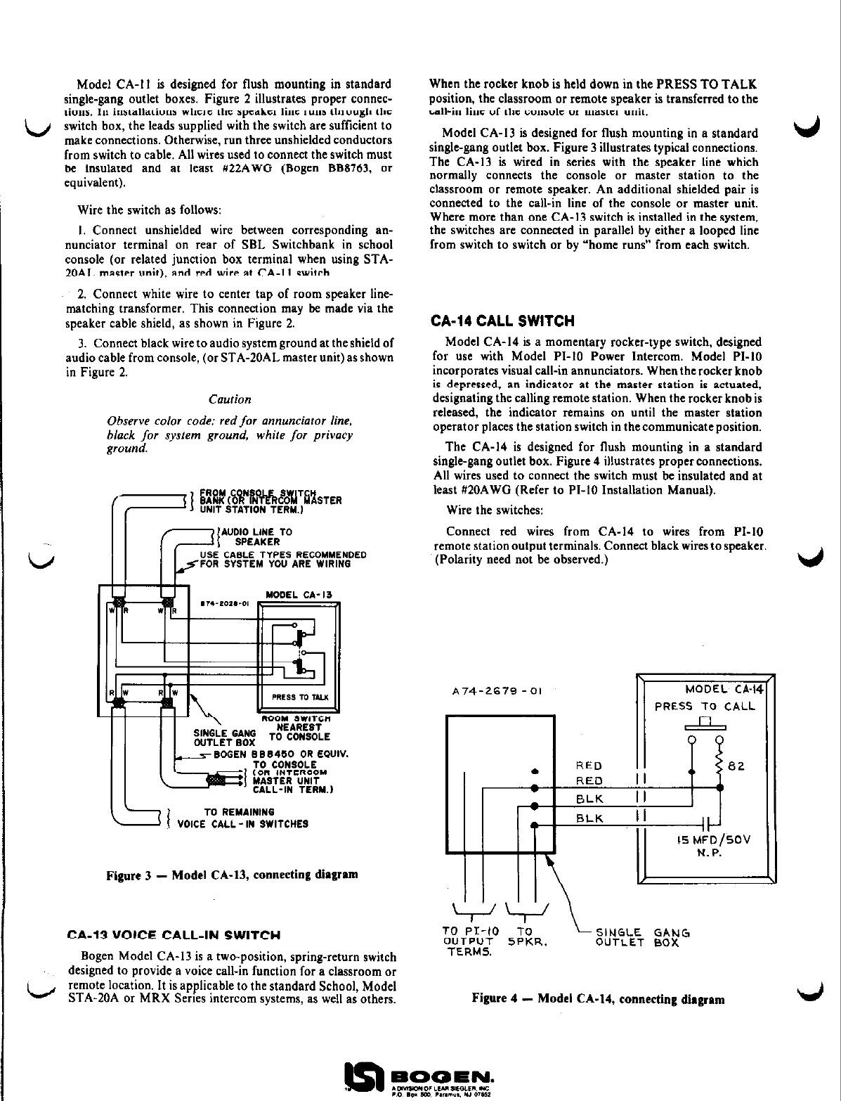 Page 2 of 2 - Bogen Bogen-Ca-10-Users-Manual-