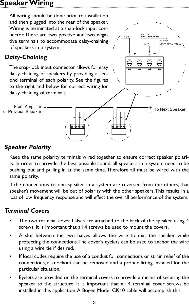 Bogen Hfcs1lp Users Manual Hfcs1 High Fidelity Ceiling Speaker 70v Wiring Diagram Page 5 Of 8