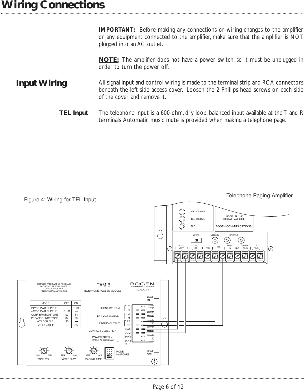 page 6 of 12 - bogen bogen-tpu250-users-manual- 54-