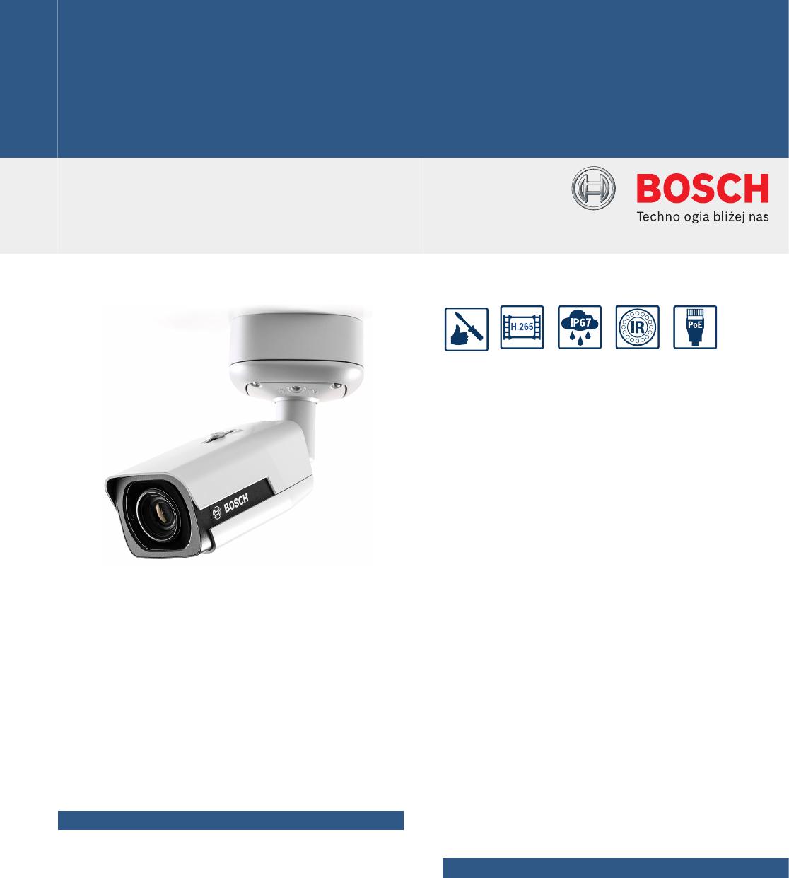 Bosch NBE 6502 AL Bullet 2MP HDR 2,8 12mm Auto IP67 IK10 Pl