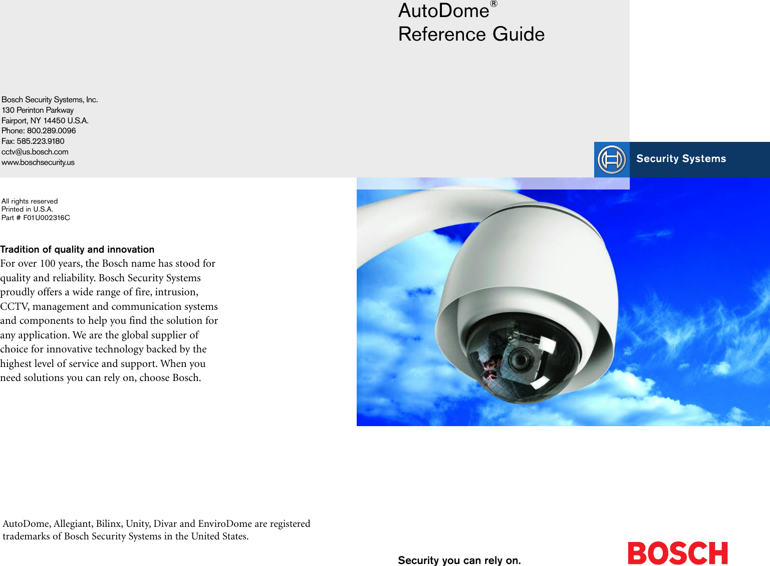 Boschhome bosch appliances security camera f01u002316c users manual page 1 of 12 boschhome boschhome bosch appliances security camera cheapraybanclubmaster Image collections
