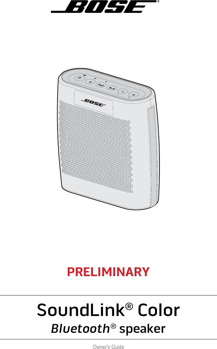 Bose wireless speakers owners manual
