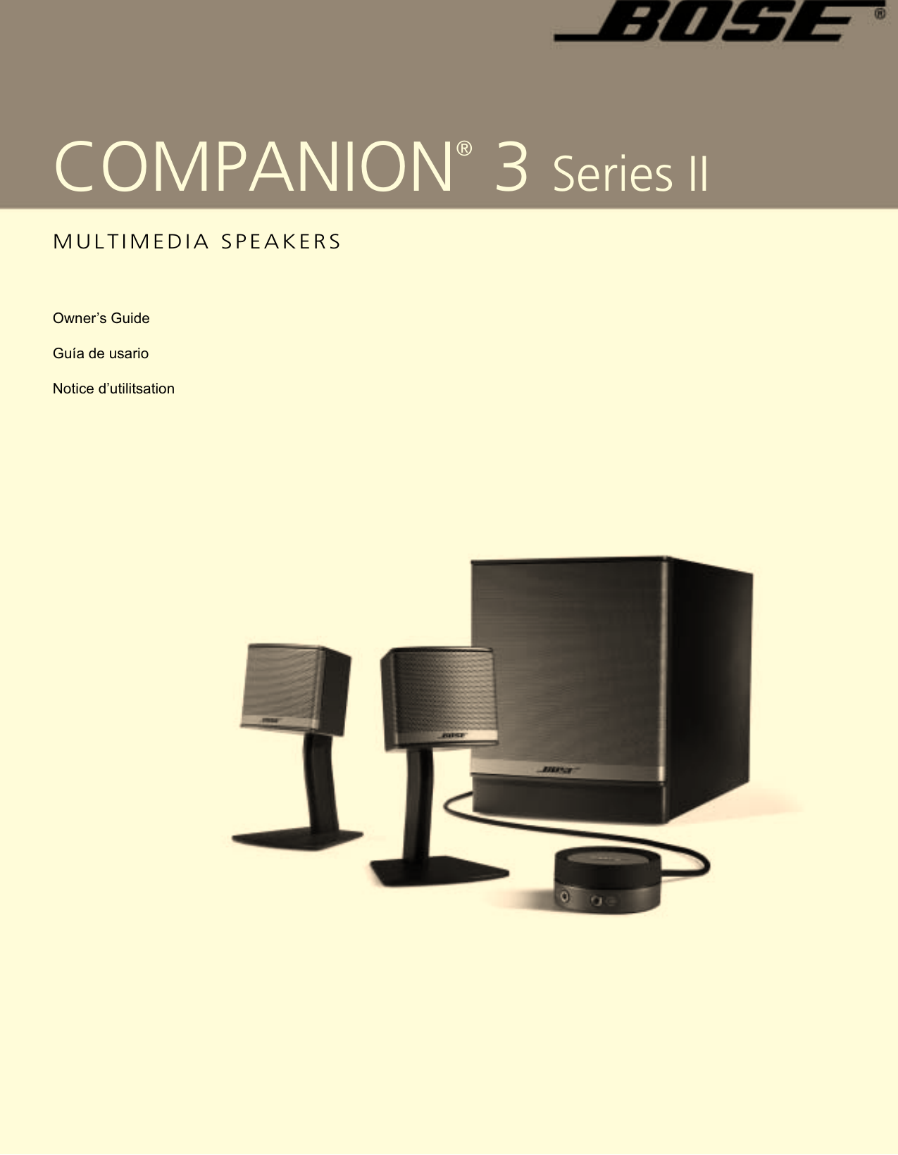 Bose Multimedia Speakers Companion 3 Series Ii Users