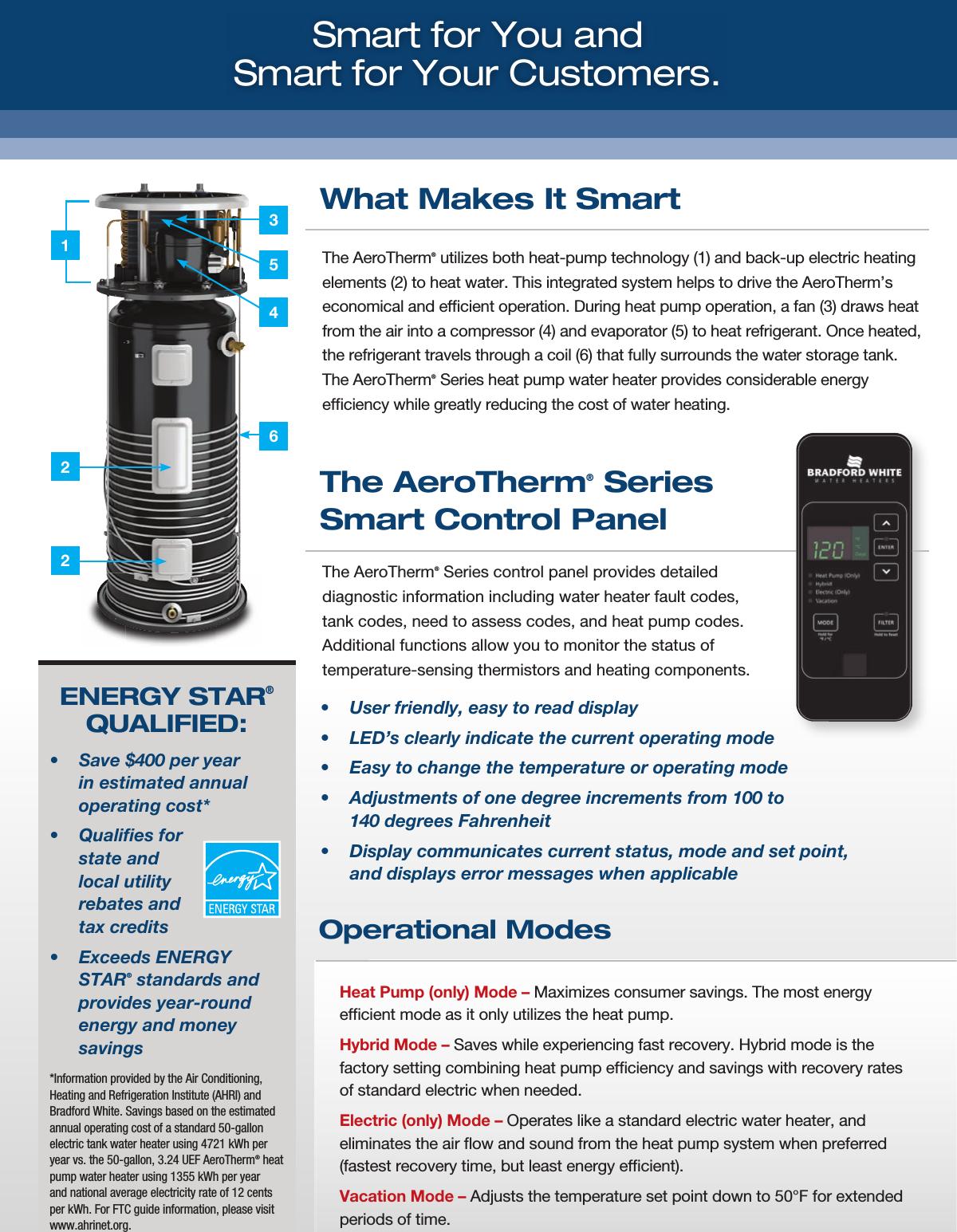 Bradfordwhite Brochure Aerotherm Athrmb User Manual Bradford White Water Heater Wiring Diagram Page 3 Of 4