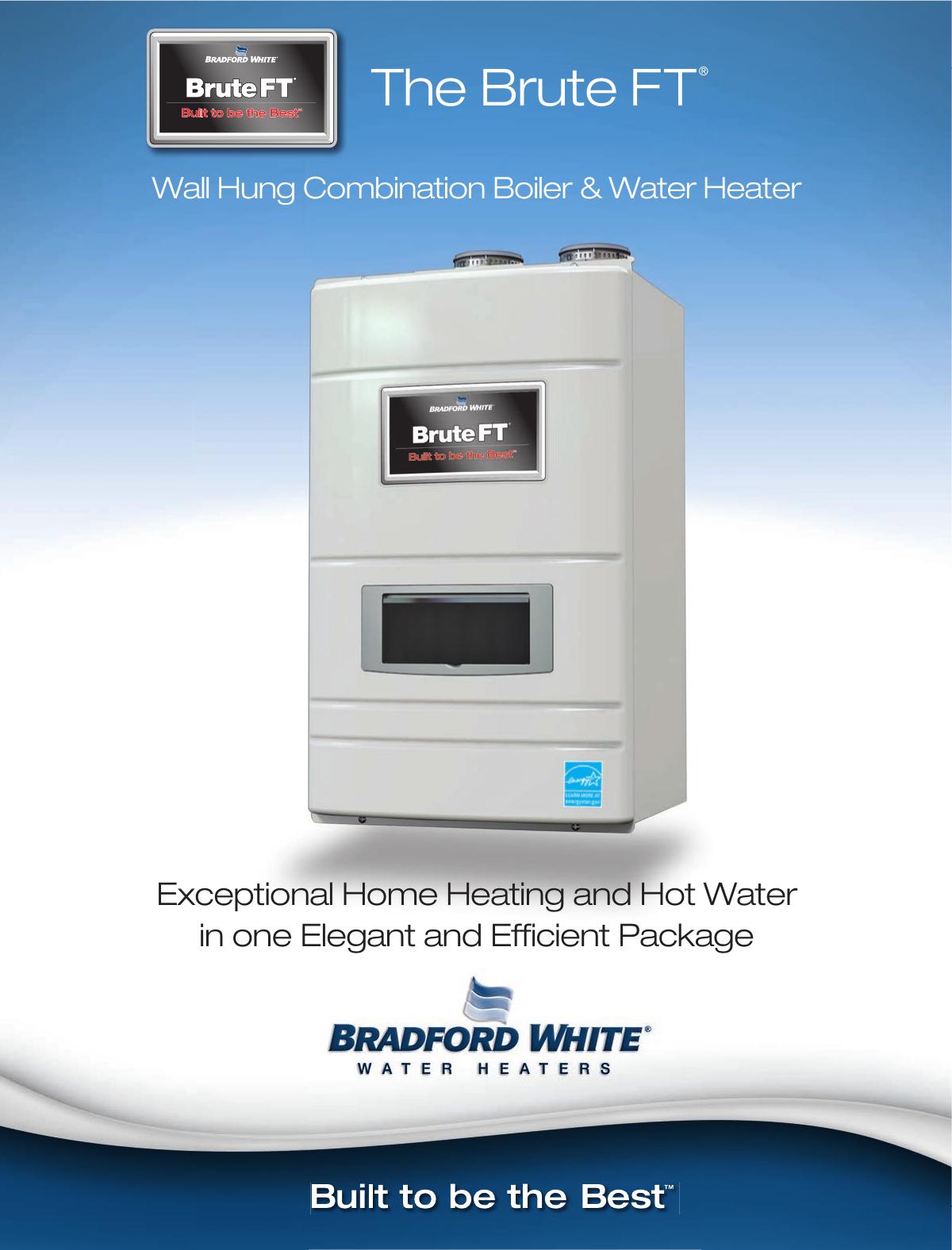 Bradfordwhite Brochure Brute Ft Wallhung Combi Bftwh User Manual Bradford White Water Heater Wiring Diagram