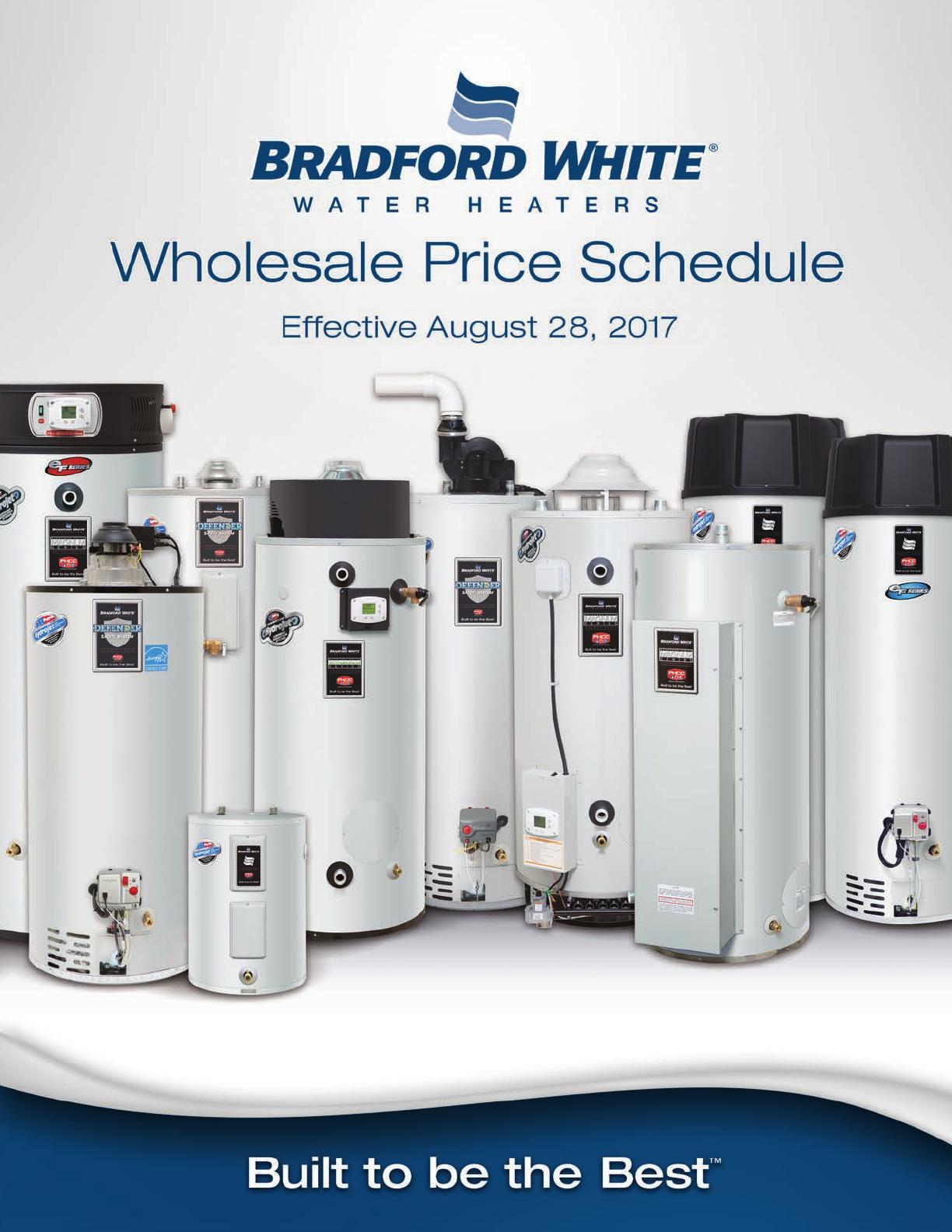 Bradfordwhite Pricebook Wholesale User Manual