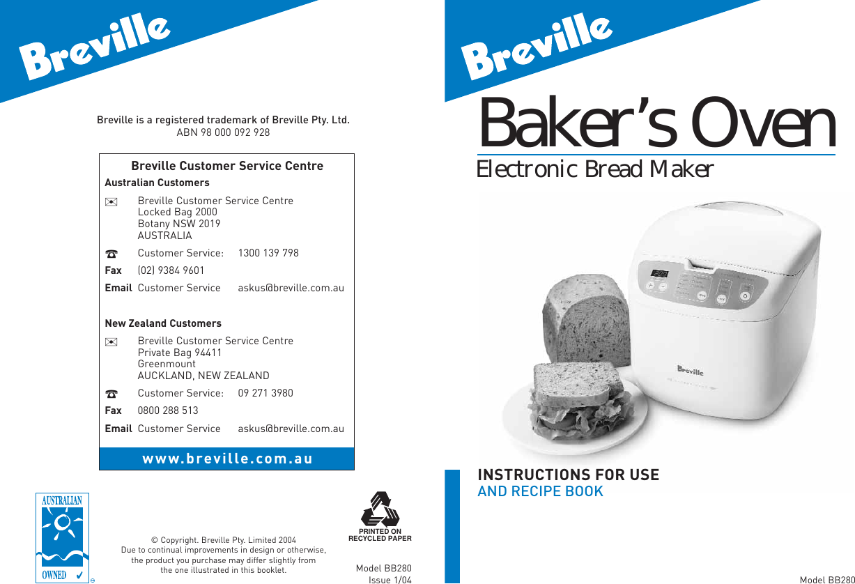 Breville Bb280 Instruction Manual ManualsLib Makes It Easy To Find