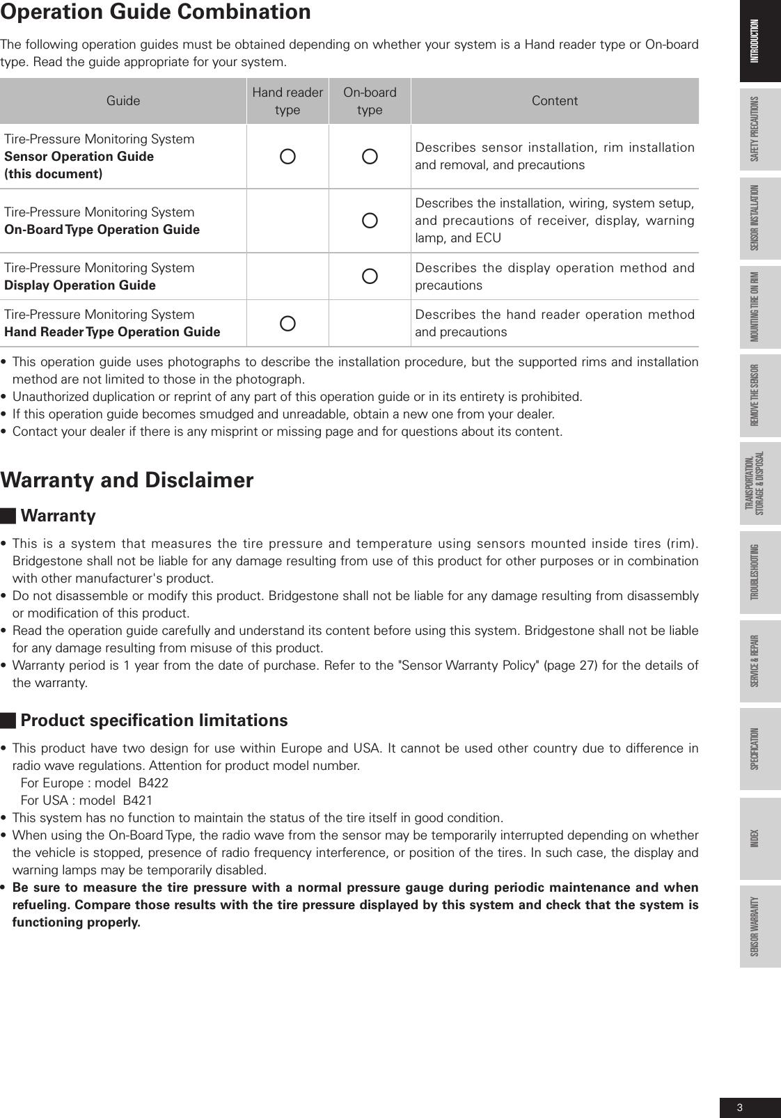bridgestone b421 tpms transmitter user manual sensor e indd rh usermanual wiki Owner's Manual Manuals in PDF