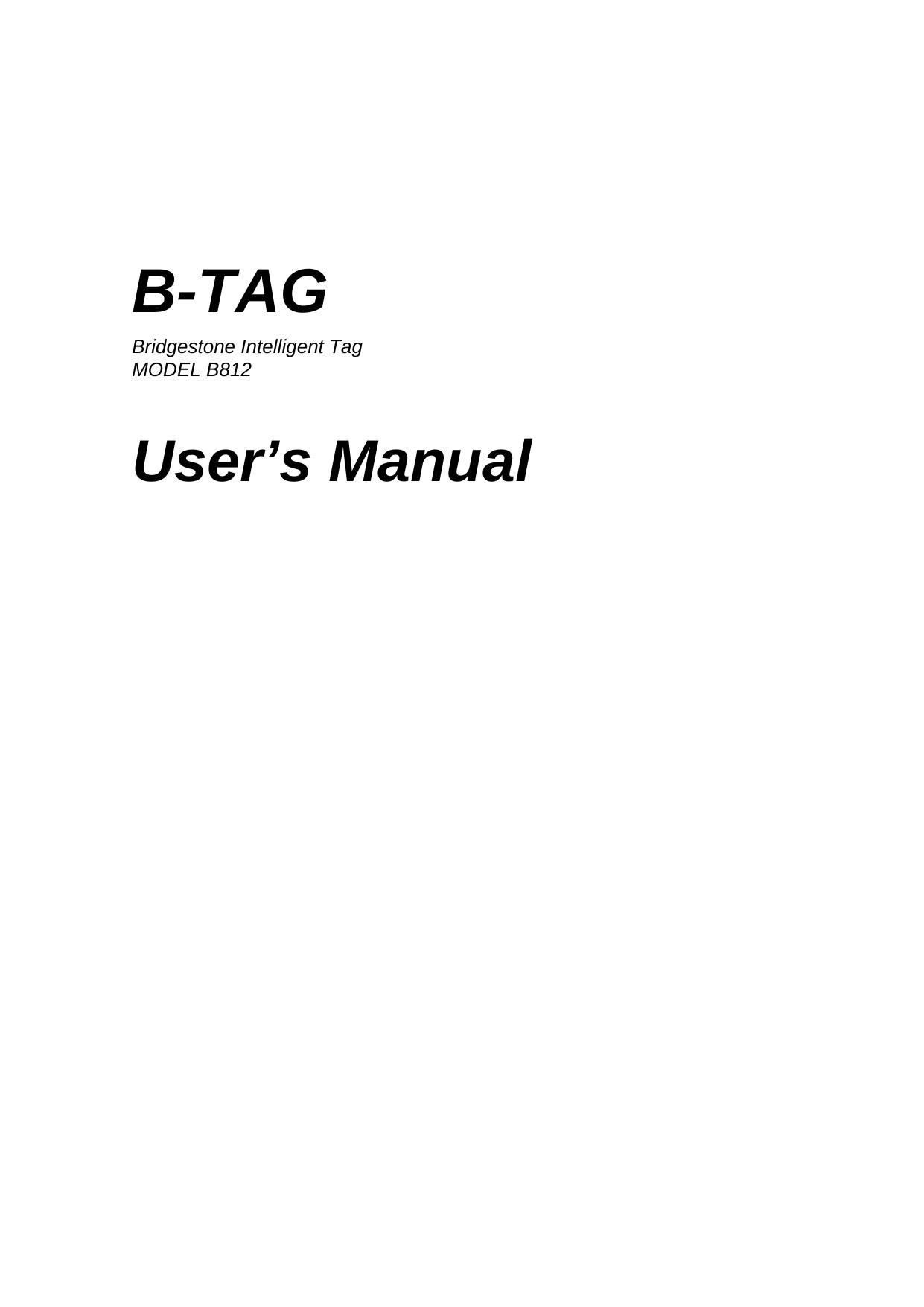 bridgestone b812a tire pressure monitoring system user manual sensor rh usermanual wiki Operators Manual User Manual Template