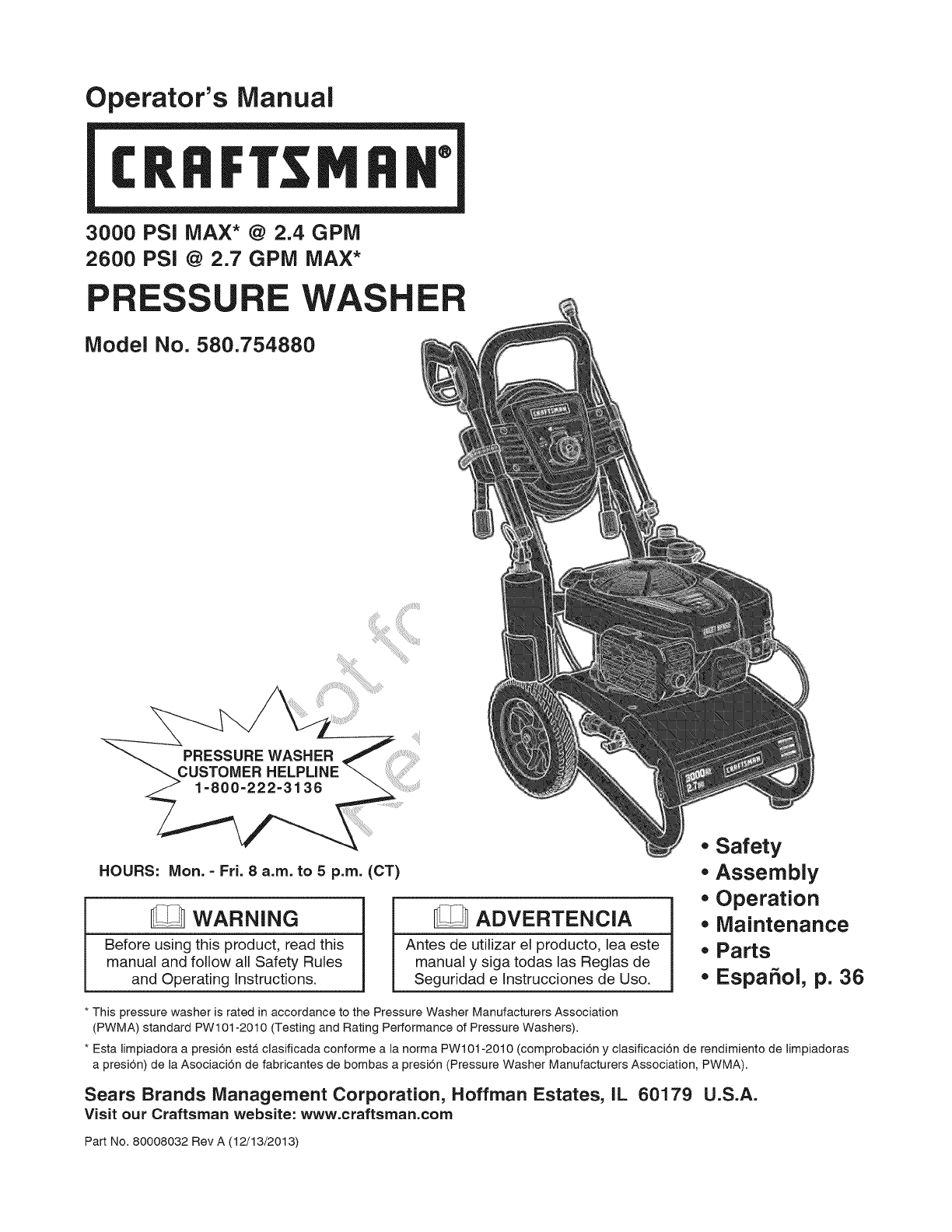 Briggs Stratton 020572 00 User Manual Power Washer Manuals And Just Bought A With Engine Guides 1402557l