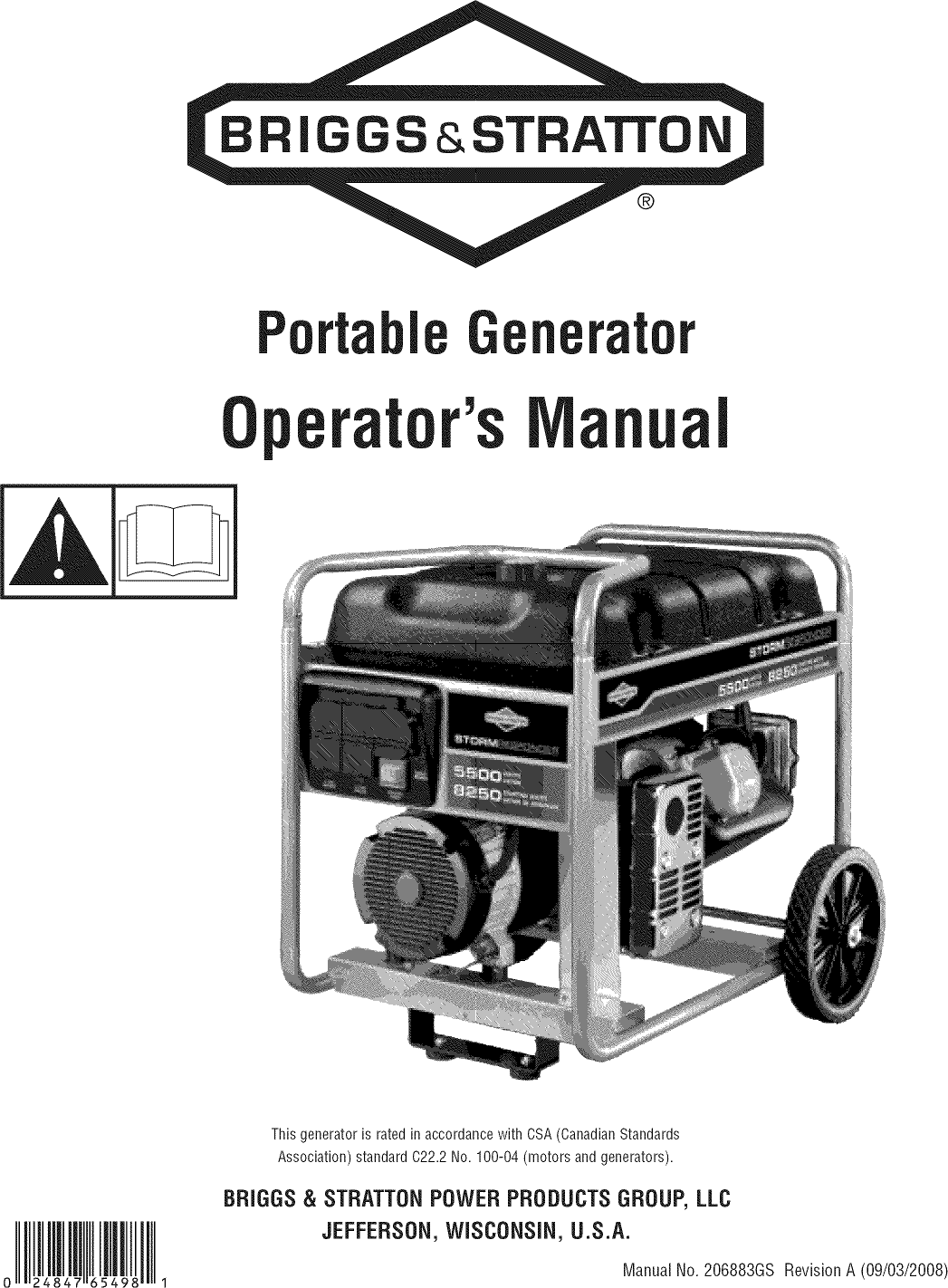 Briggs & Stratton 030430 generator manual