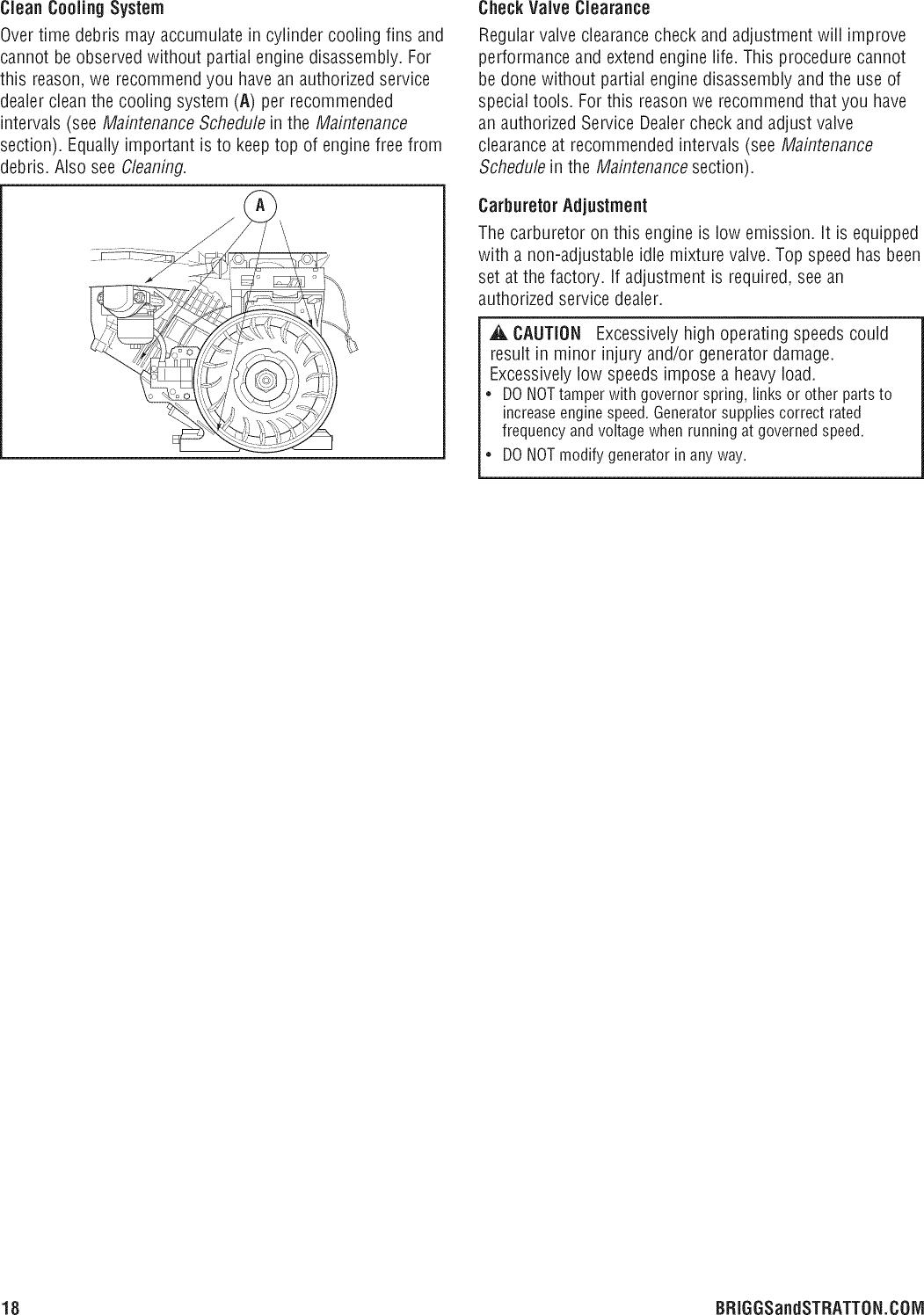Briggs & Stratton 030430B 00 User Manual GENERATOR Manuals And