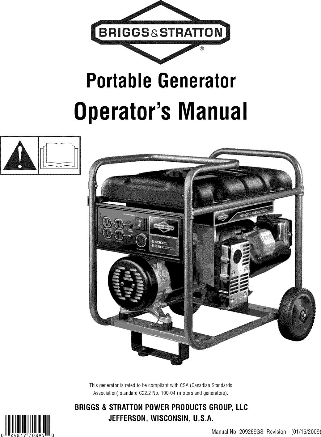 Briggs And Stratton 422437 Manual Guide