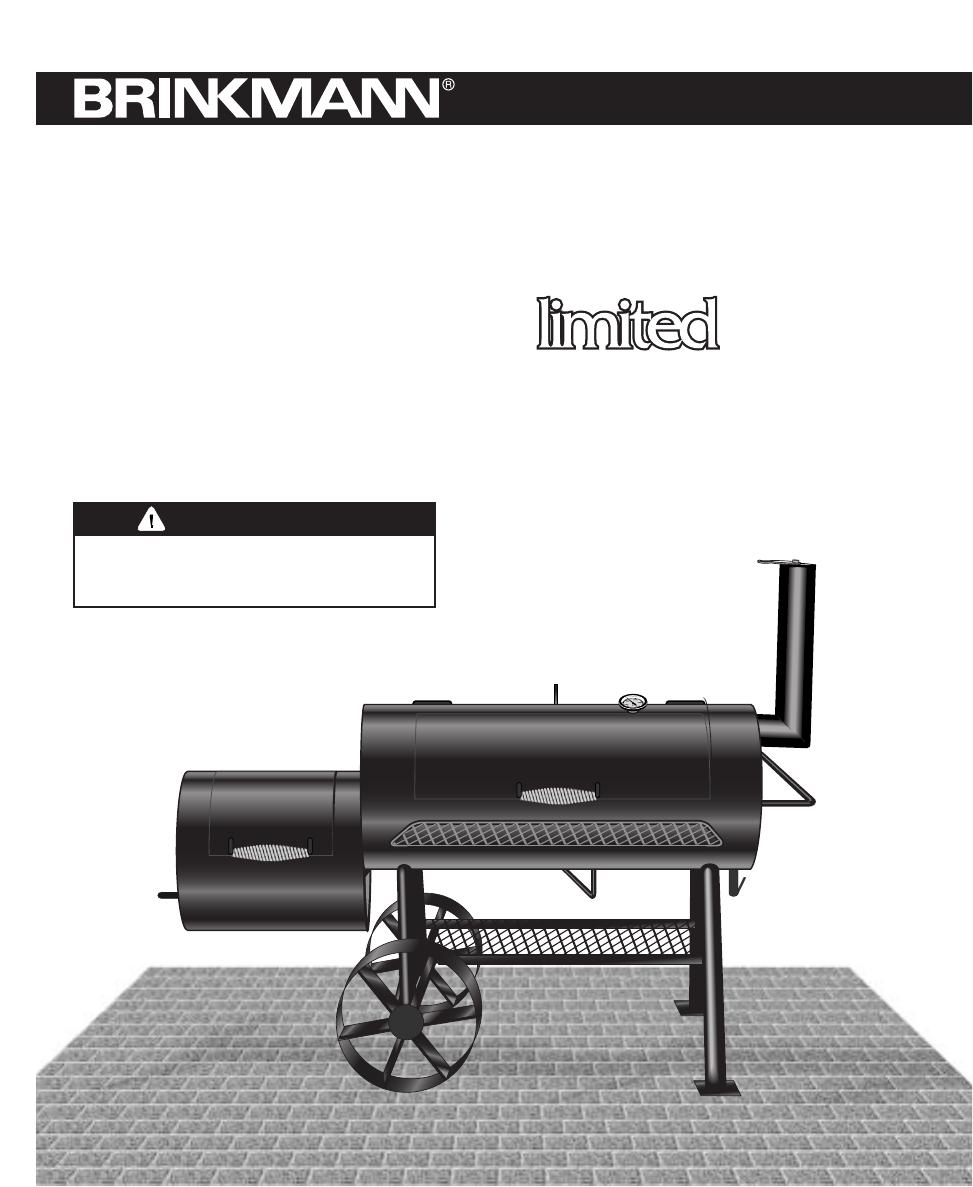 brinkmann stillwater charcoal wood smoker and grill users manual rh usermanual wiki