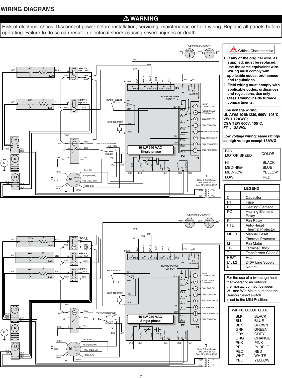 Broan Furnace 30042432A Users Manual D Series Nortron Electric Furnaces  Installation (30042432A)UserManual.wiki