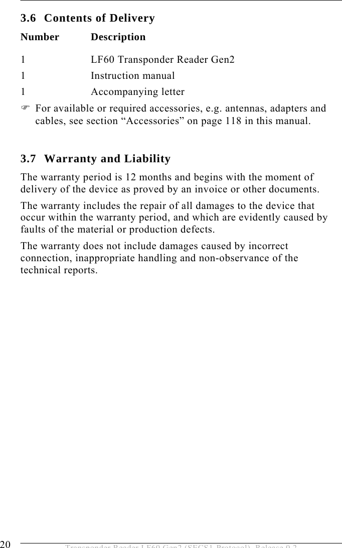 Brooks Automation Lf60 Inductive Reader User Manual Lf60