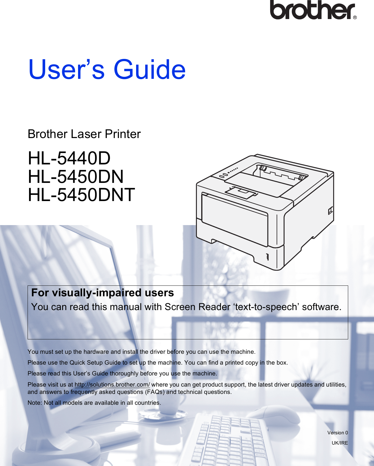 Brother Hl 5450Dnt Users Manual