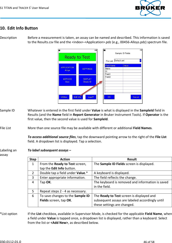 Bruker AXS HMP001 Handheld XRF Spectrometer User Manual