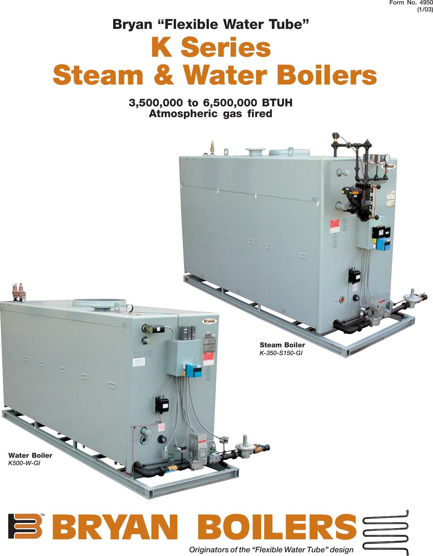Bryan Boilers K 350 S150 Gi Users Manual BYS4428.P65