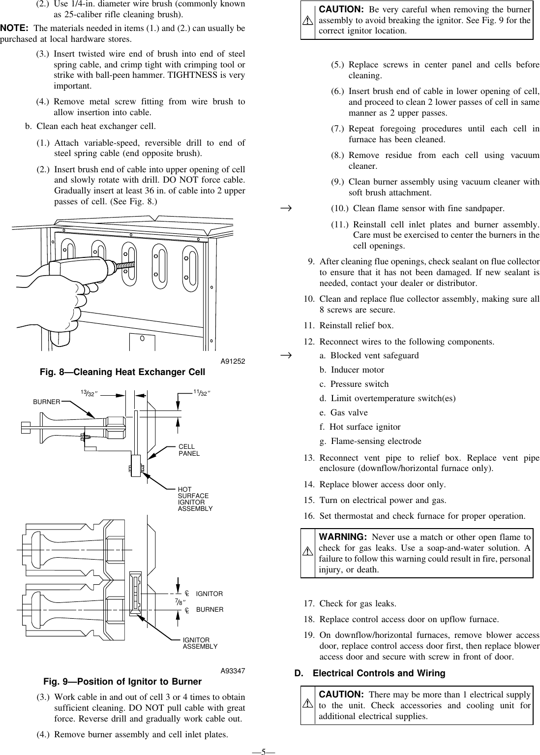 Bryant 3 383kav Users Manual Gas Furnace Ignitor Replacement Schematics Page 5 Of 12