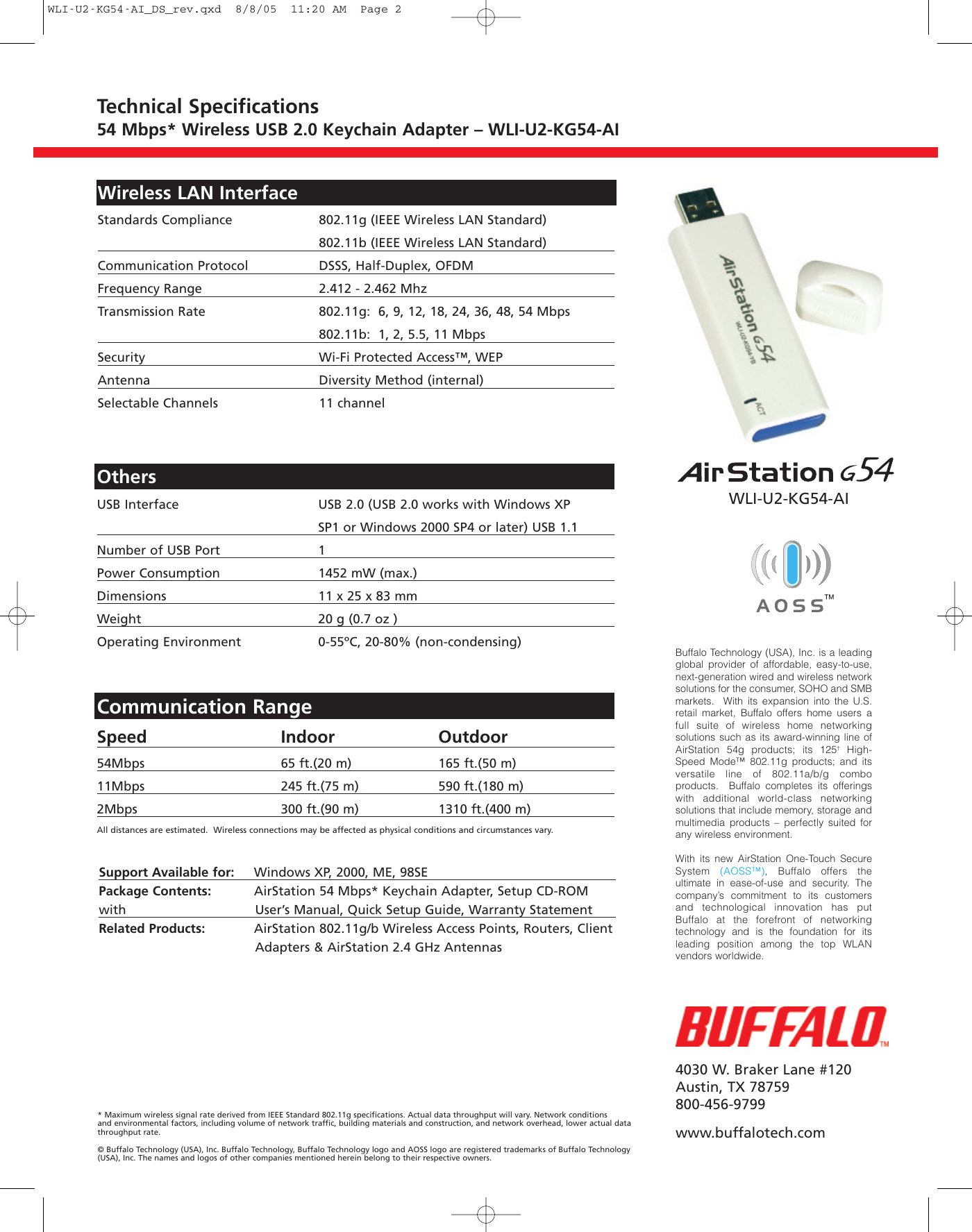NEW DRIVERS: BUFFALO WLI-U2-KG54-AI