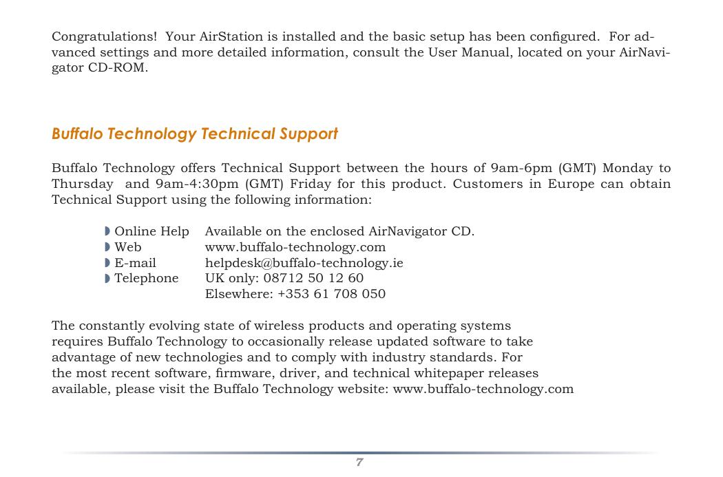Buffalo Technology Airstation Nfiniti Wzr G300N Users Manual