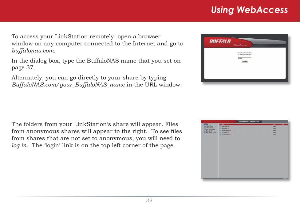 Buffalo Linkstation Cannot Access Shared Folder