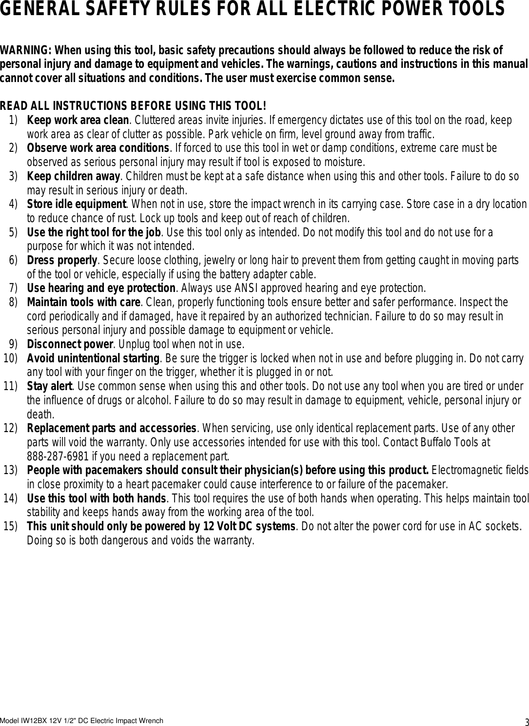 Buffalo tools iw12bx 12v users manual page 3 of buffalo tools buffalo tools iw12bx 12v users publicscrutiny Gallery