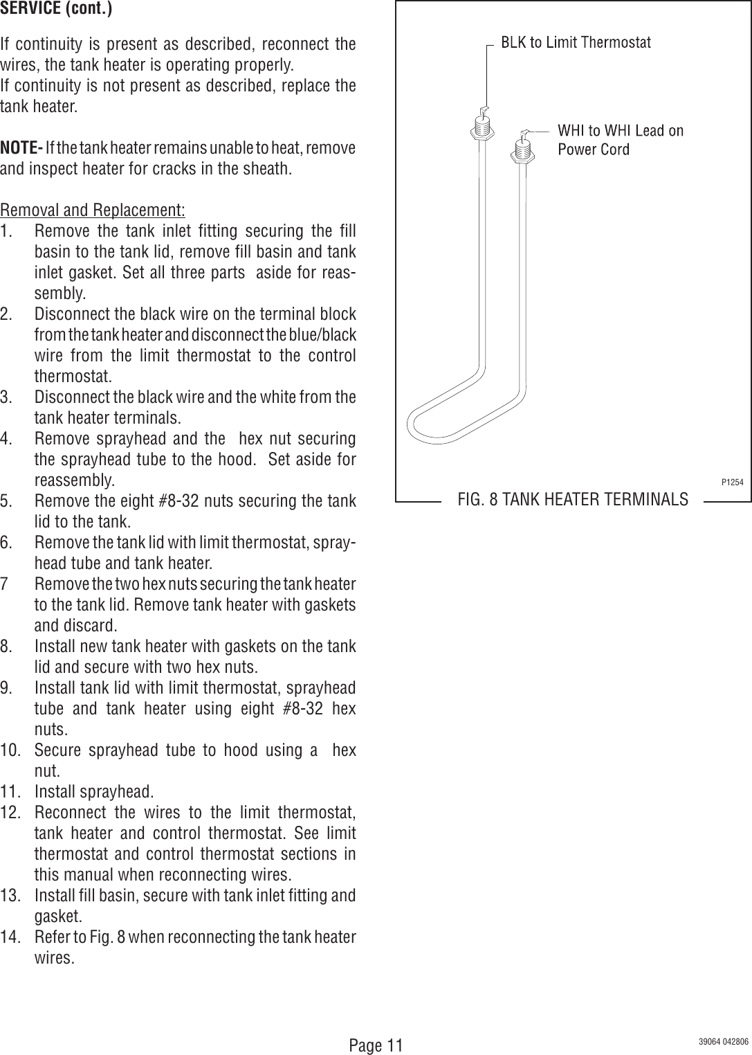 Bunn 1 Gpr 5 75 Gprcanada Owner S Manual Operating Service Vpr Tc Parts Catalog Wiring Diagram Page 11 Of 12