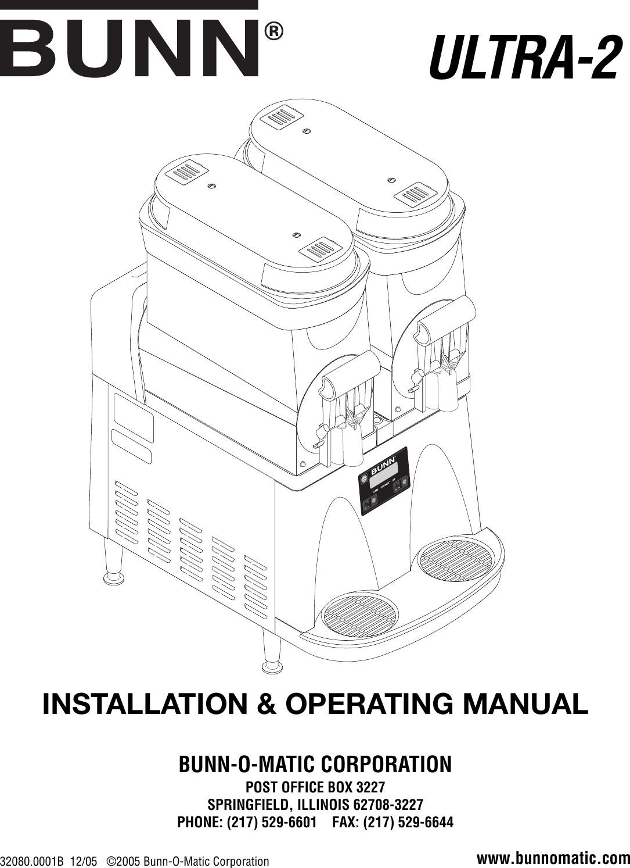 Bunn Mixer 2 Users Manual 320800001b Wiring Diagram