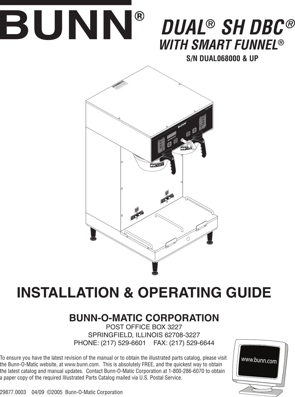 Dual sh single sh repair manual bunn.