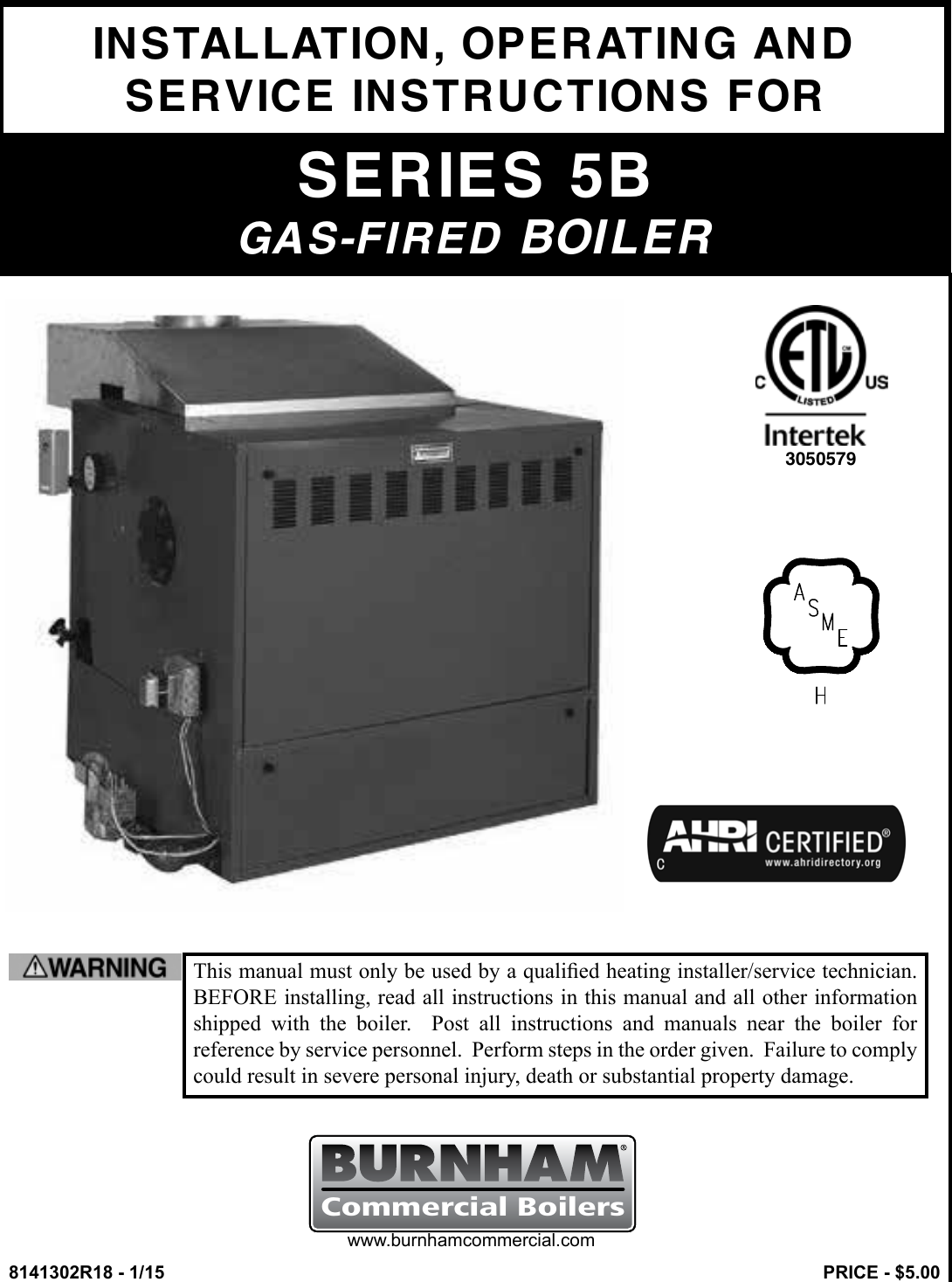 Burnham Series 5b Boiler Installation Operating Instructions Wiring Diagram